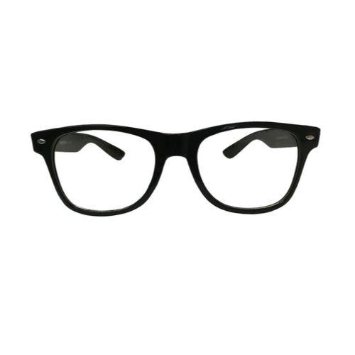 Nerd bril zonder sterkte - zwart