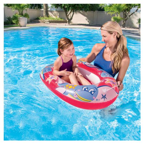 Zwembad bootje roze