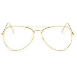 Pilotenbril zonder sterkte - goud
