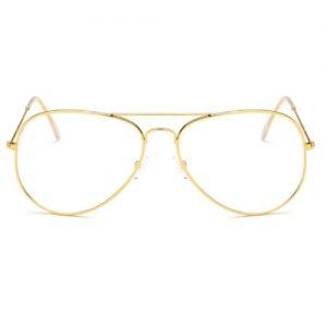 Bril zonder sterkte - goud