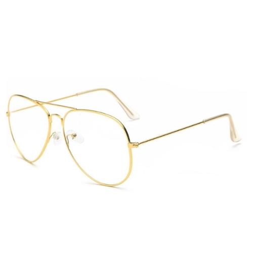 fbcc32bae04131 Bril zonder sterkte - goud - Pilotenbril - Weekendwebshop.nl