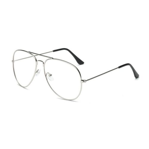 Pilotenbril zonder sterkte - zilver