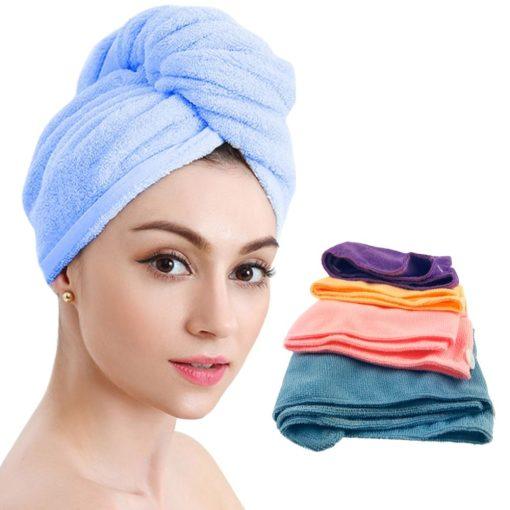 Haarhanddoek 4 stuks situatiebeeld
