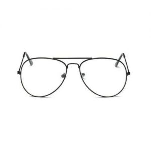 Pilotenbril zonder sterkte - zwart