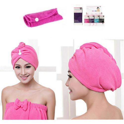 Haar handdoek roze