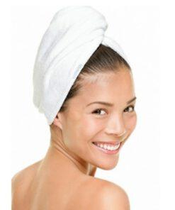 Haarhanddoek wit