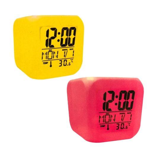 Digitale klok met LED kleuren