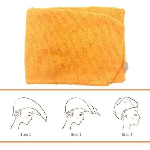 Omschrijving Haarhanddoek oranje