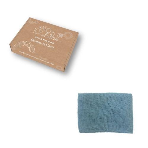 Orange85 Haarhanddoek Microvezel Sneldrogend blauw