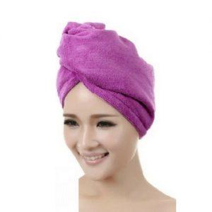 Haar handdoek paars