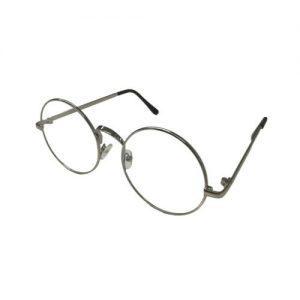 Bril zonder sterkte rond zilver