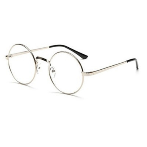 Bril zonder sterkte rond - zilver