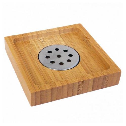 Zeephouder bamboe | Zeepbakje | 9.5x9.5 cm | badkamer accessoires