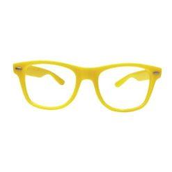 Nerd bril zonder sterkte - geel