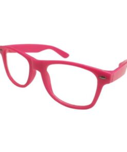 Nerd bril zonder sterkte - roze