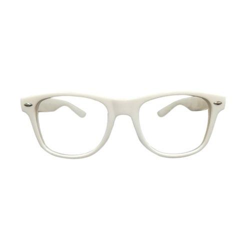 Nerd bril zonder sterkte - wit