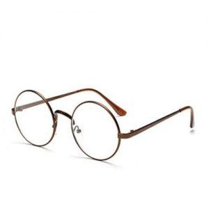 Bril zonder sterkte rond – brons