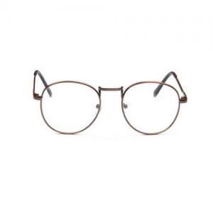 Bril zonder sterkte rond - brons