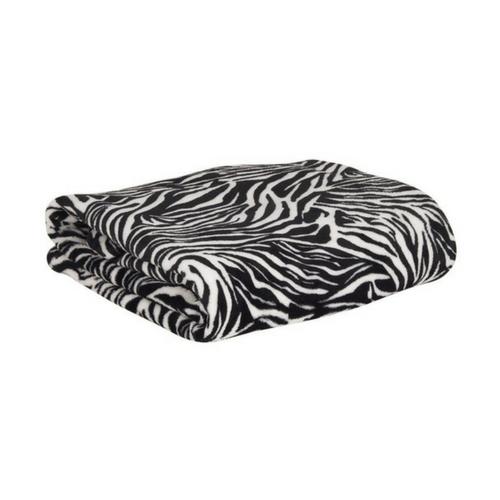 fleecedeken met mouwen - zebra - Weekendwebshop.nl