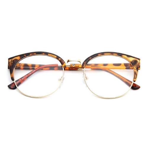 Bril zonder sterkte - luipaard half frame