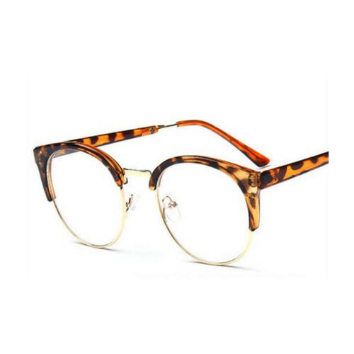 Bril zonder sterkte - luipaard half - Weekendwebshop.nl