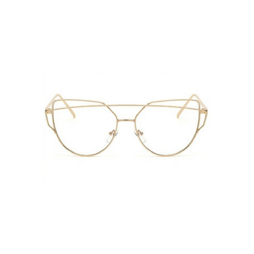 Bril zonder sterkte aviator goud