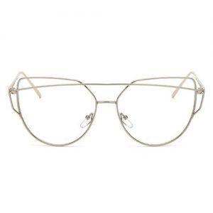 Aviator bril zonder sterkte - zilver