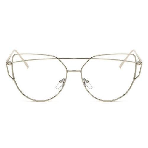 Bril zonder sterkte aviator zilver