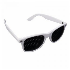 Rasterbril wayfarer wit 1