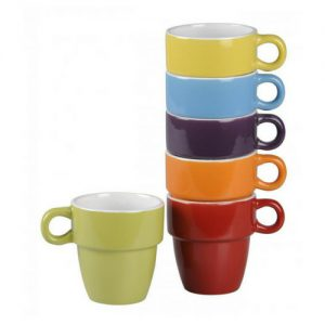 Koffiekopjes gekleurd 6x