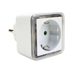 Nachtlamp met stopcontact vierkant 4 LED