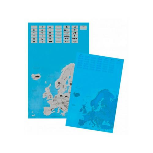 Scratch kaart Europa