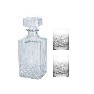 Whiskey karaf met 2 tumbler glazen