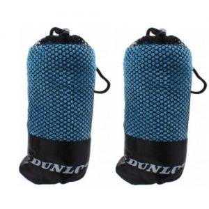 Sporthanddoek microvezel 2 stuks blauw