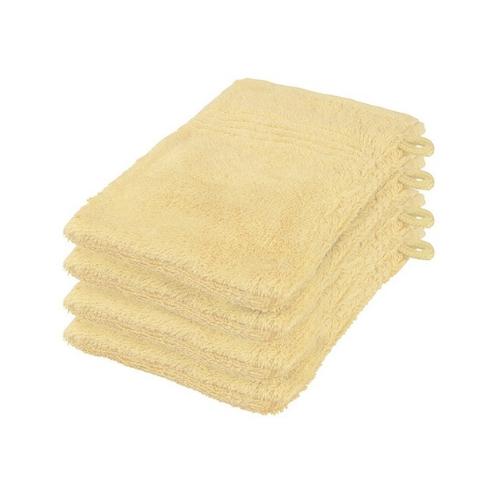 Washandjes set 12 stuks geel