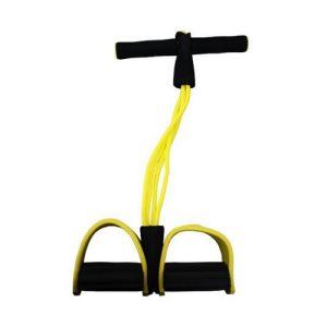 Fitness elastiek met voetsteune