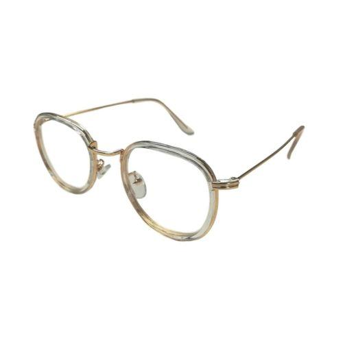 Bril zonder sterkte cat-eye goud
