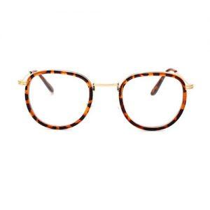 Bril zonder sterkte cat-eye tijger (1)