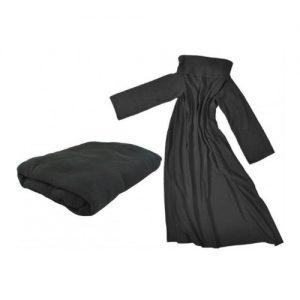 fleece deken met mouwen zwart