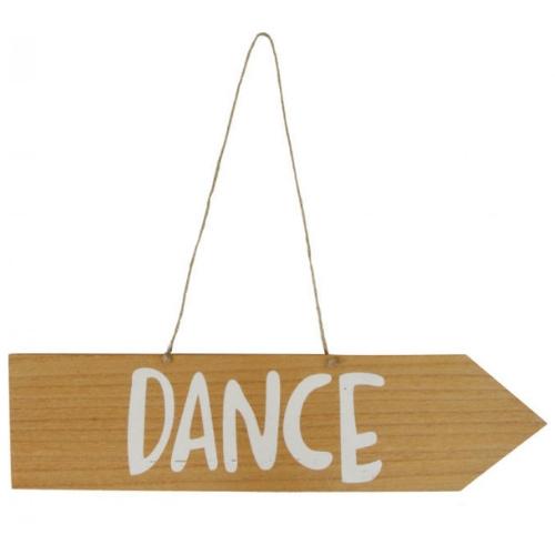 Houten Bord met tekst Dance