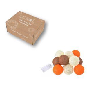Lichtslinger cotton balls oranje 2