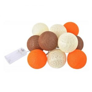 Lichtslinger cotton balls oranje