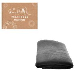 Orange85 Fleece deken met mouwen zwart