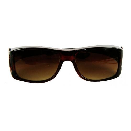 overzet zonnebril bruin