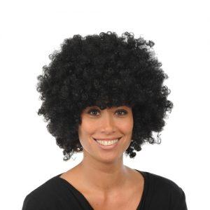 Zwarte afro pruik