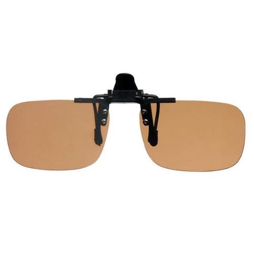 Clip on zonnebril bruin