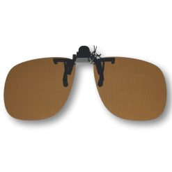 Clip on zonnebril bruin Vooraanzicht