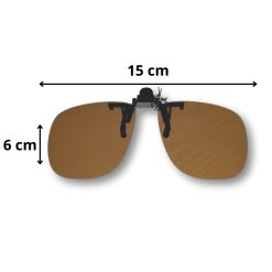 Clip on zonnebril bruin Afmetingen