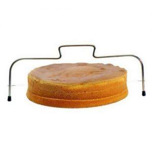 Cake snijder + bakkwast 3 stuks