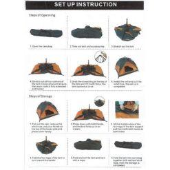 Orange85 pop-up tent beschrijving
